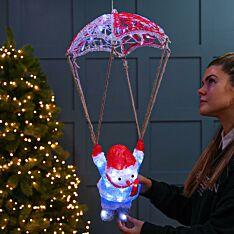 60cm Acrylic Parachuting Snowman Figure