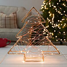 32cm Battery Gold Tree LED Christmas Table Decoration