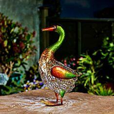 Solar Metal Novelty Duck Light, 36cm
