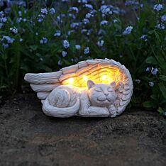 Solar Stone Effect Memorial Cat Light