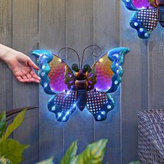 Solar Butterfly Fence Decoration