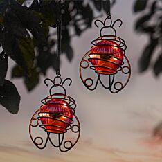 Solar Hanging Ladybird Lights, 2 pack