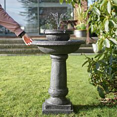 Solar Two-Tiered Pagoda LED Water Feature