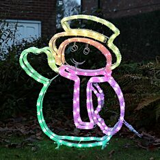 1m Smart App Controlled Twinkly Outdoor Snowman Silhouette