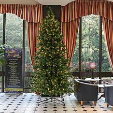 12ft Green Pre Lit Richmond Firl PE Christmas Tree, 1200 Warm White LEDs