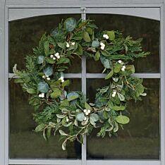 42cm Outdoor Mistletoe Christmas Wreath