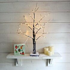 2ft Battery Snow Effect Twig Tree, 60 Warm White LEDs