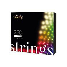 20m Smart App Controlled Twinkly Christmas Fairy Lights, Black Cable, Special Edition - Gen II - EU Plug