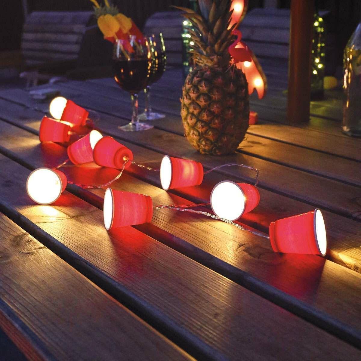 Battery Beer Pong Indoor Party Fairy Lights, 1.35m