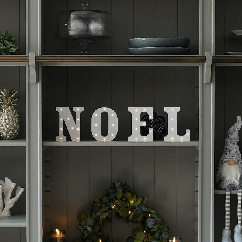 Noel Battery Light Up Circus Letters, Warm White LEDs