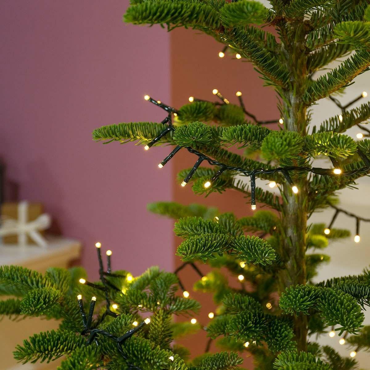 25m Christmas Tree Fairy Lights, 1000 Warm White LEDs