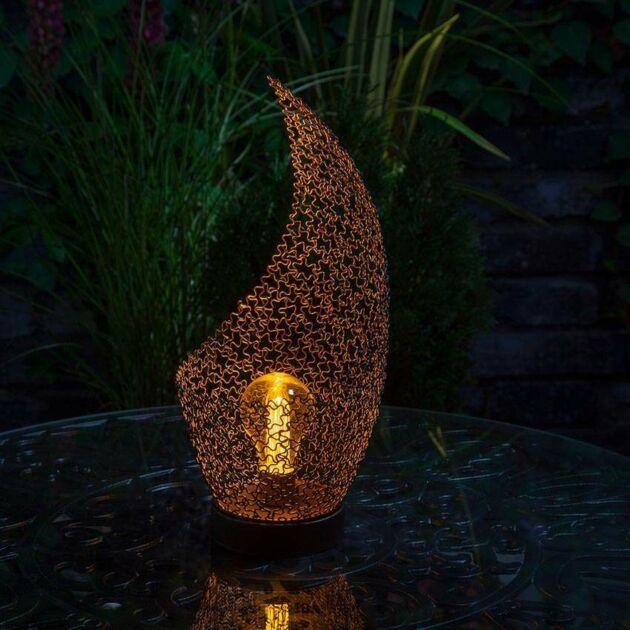 Outdoor Battery Metal Rustic Lantern