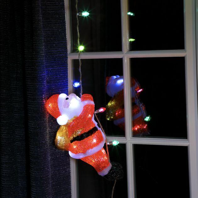 Acrylic Climbing Santa Christmas Figure