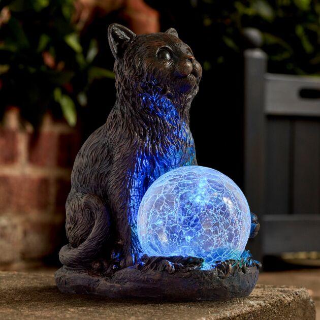 Solar Novelty Cat Figure