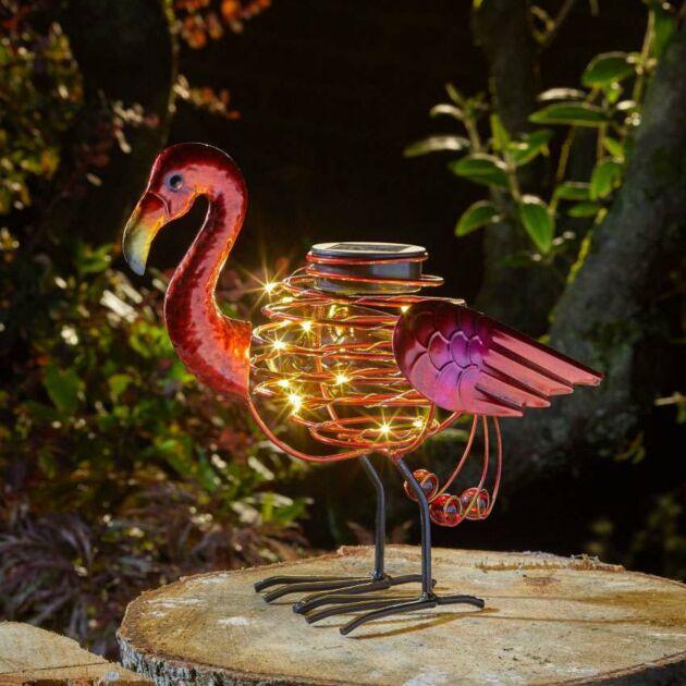Solar Spiral Flamingo Light