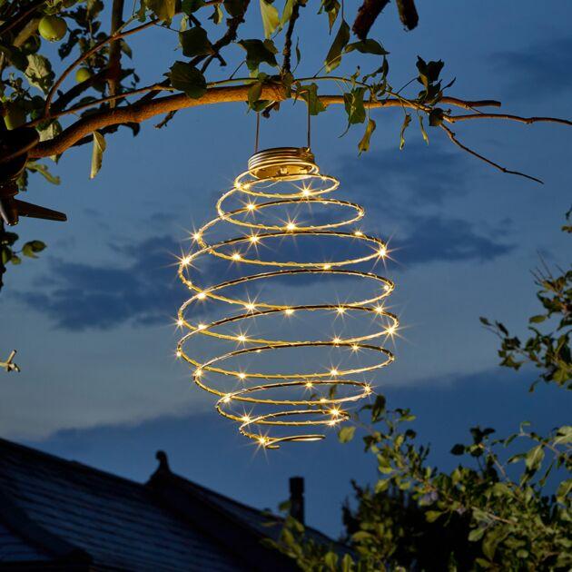 45cm Solar Hanging Spiralites Lantern