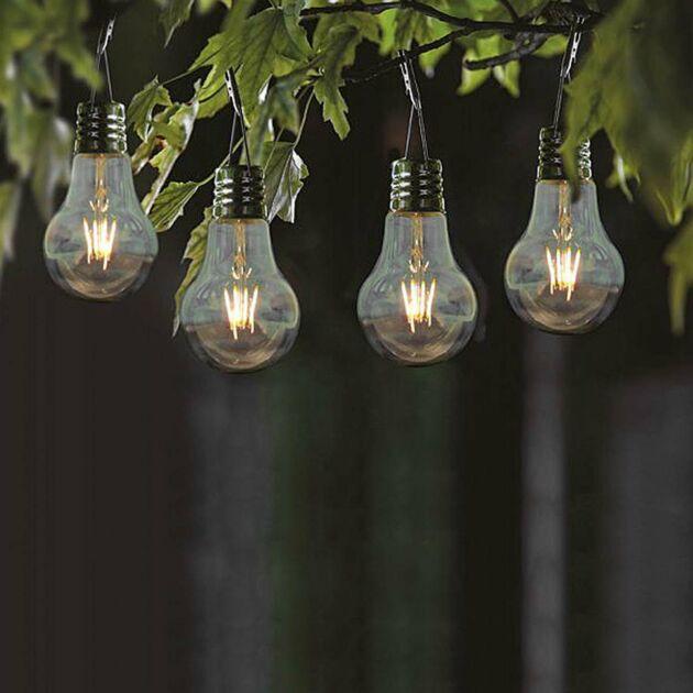 Solar Eureka Filament Effect LED Festoon Bulbs, 4 Pack