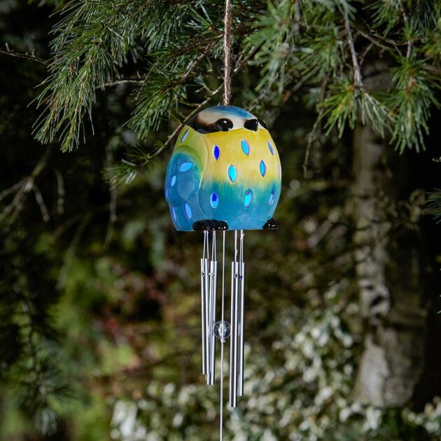 Solar Blue Tit Wind Chime