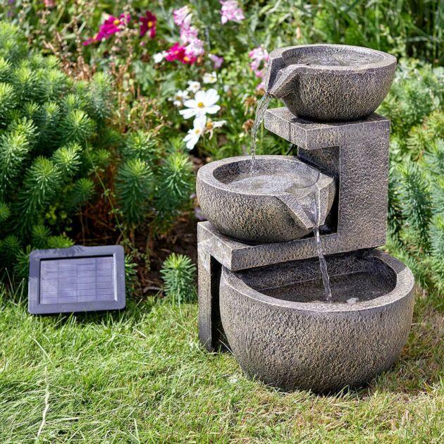 Solar Genoa Cascade Water Fountain