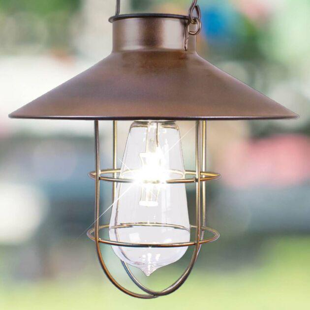 Solar Copper Hanging Lantern