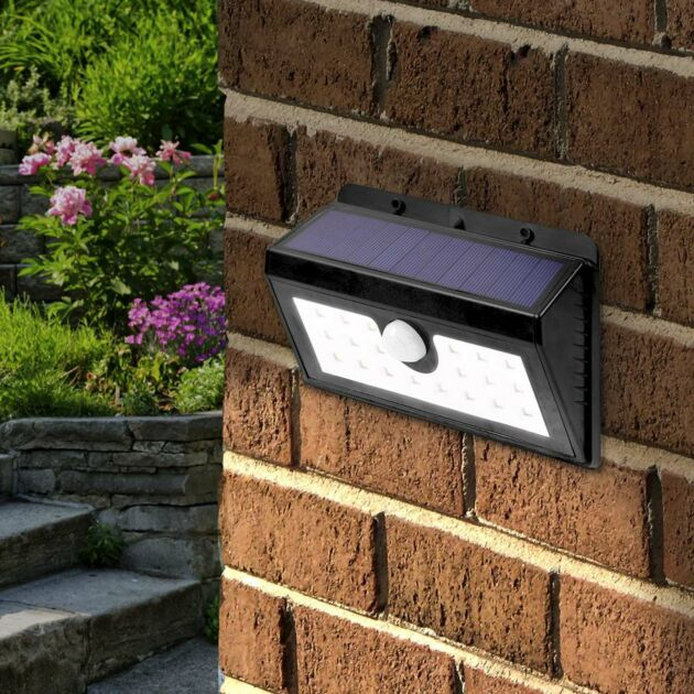 Solar Security Welcome Wall Light with PIR Sensor