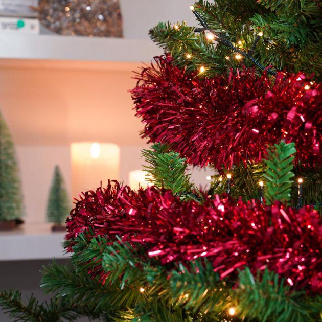 2m Giant Bubble Tinsel Christmas Tree Decoration
