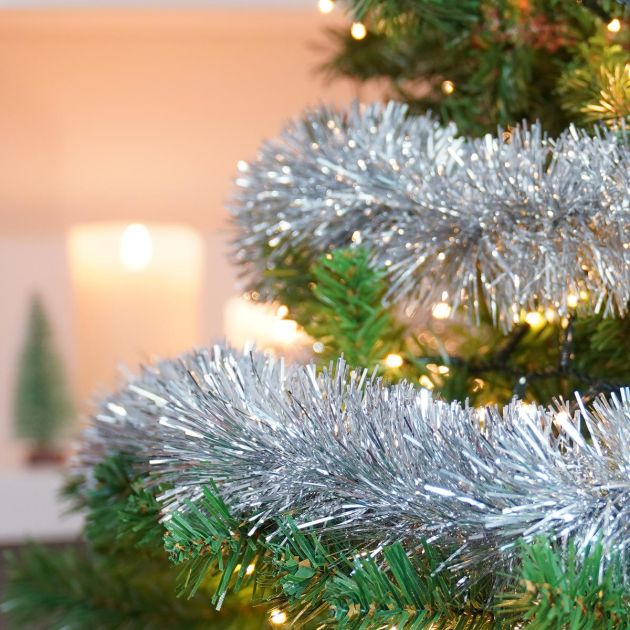 2m Fine Cut Tinsel Christmas Tree Decoration