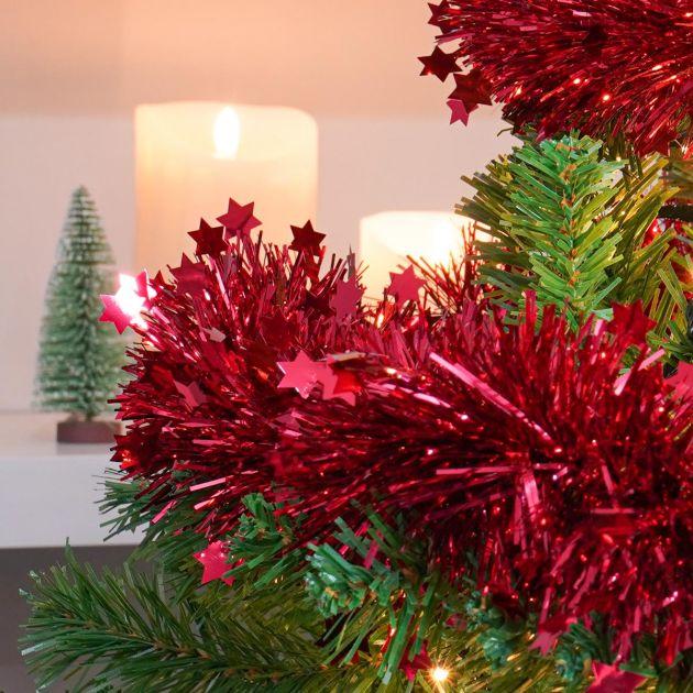 2m Die Cut Star Tinsel Christmas Tree Decoration