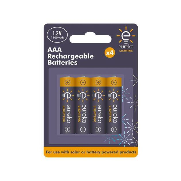 Rechargeable AAA Batteries, 4 Pack