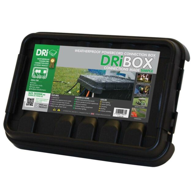 Dribox Weatherproof Medium Connection Box Black Edition