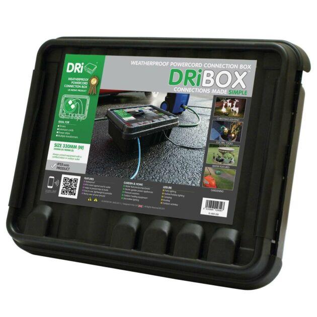 Dribox Large Weatherproof Connection Box Black Edition