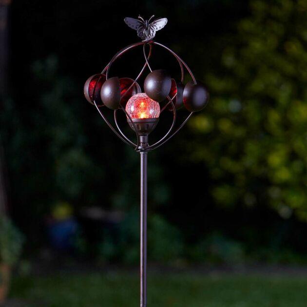 Solar Aura Wind Spinner Stake Light