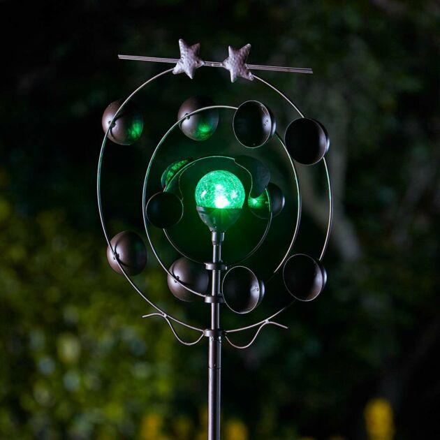 Solar Boreas Wind Spinner Stake Light