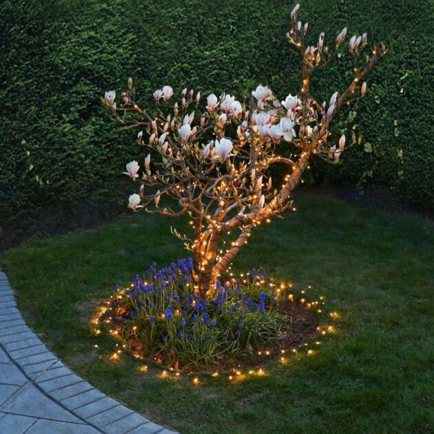 40m Indoor & Outdoor Battery Fairy Lights, 400 Warm White LEDs