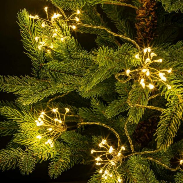 4m Outdoor Christmas Firework Fairy Lights, 400 Warm White LEDs
