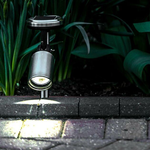 Stainless Steel Solar Spotlight