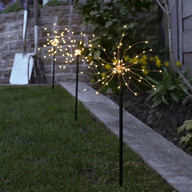 Solar Firefly Starburst Stake Light, 3 Pack