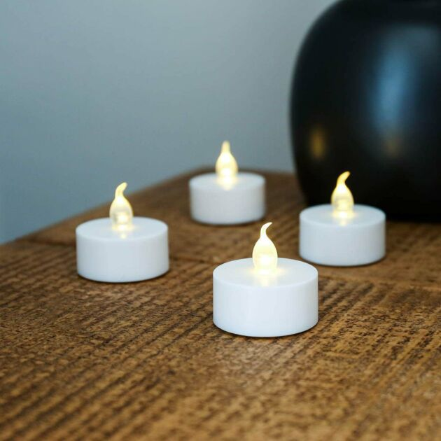 Battery Flickering LED Tea Light Candles