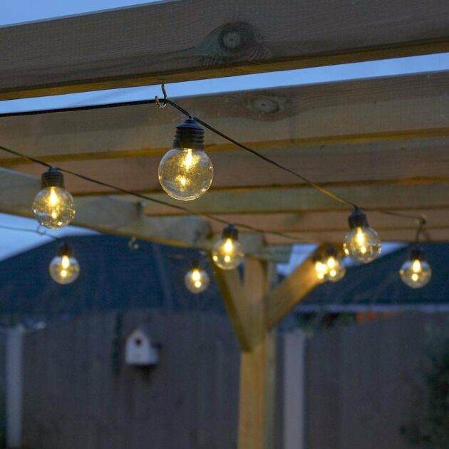 Outdoor Battery Clear Bulb Festoon Lights