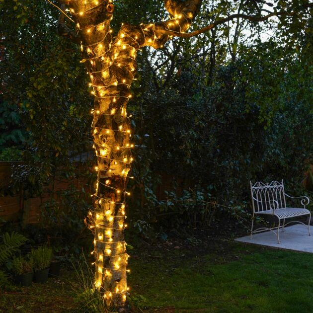 ConnectGo Outdoor LED Fairy Lights, Connectable, Clear Cable