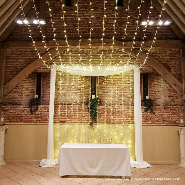 5m Warm White Fairy Lights, Connectable, 50 LEDs, White Cable