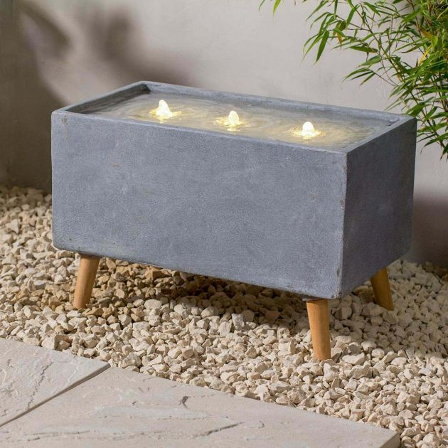 Plug In Rectangular Contemporary Water Feature