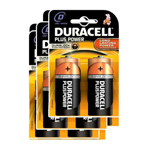 Duracell Alkaline Batteries - D (Type) Pack of 6