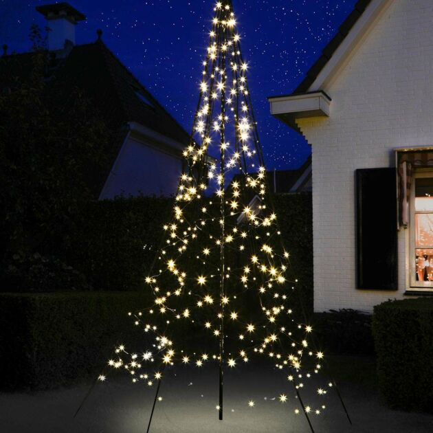3m Outdoor FairyBell Pre-Lit Tree, 360 Warm White LEDs