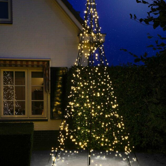 4m Outdoor FairyBell Pre-Lit Tree, 640 Warm White LEDs