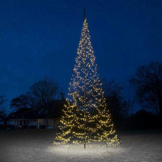 8m Outdoor FairyBell Pre-Lit Tree, 1500 Warm White LEDs