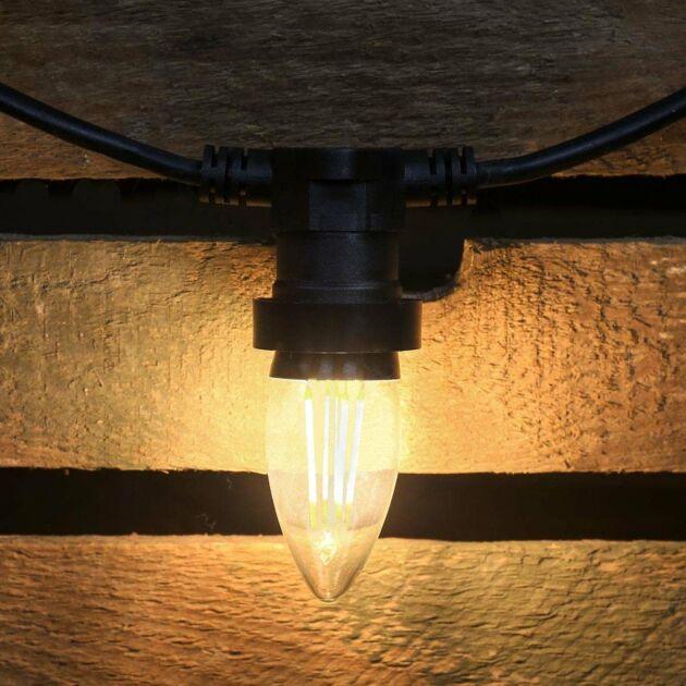 4W E27 Candle Filament Style, Warm White LED Light Bulb