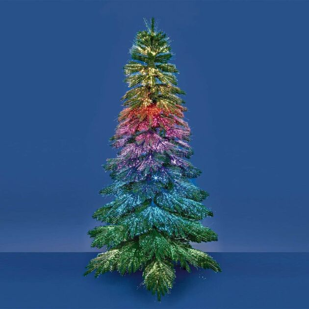 7ft Sheltered Outdoor Fibre Optic Dancing Christmas Tree, Colour Changing LEDs
