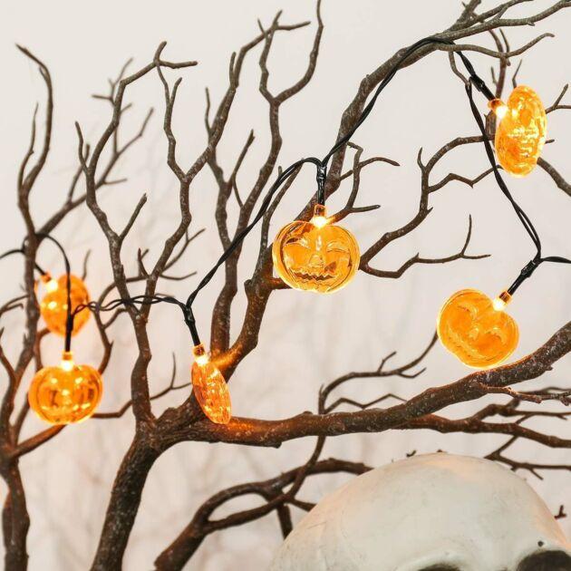 Battery Halloween Pumpkin Fairy Lights, 10 Orange LEDs