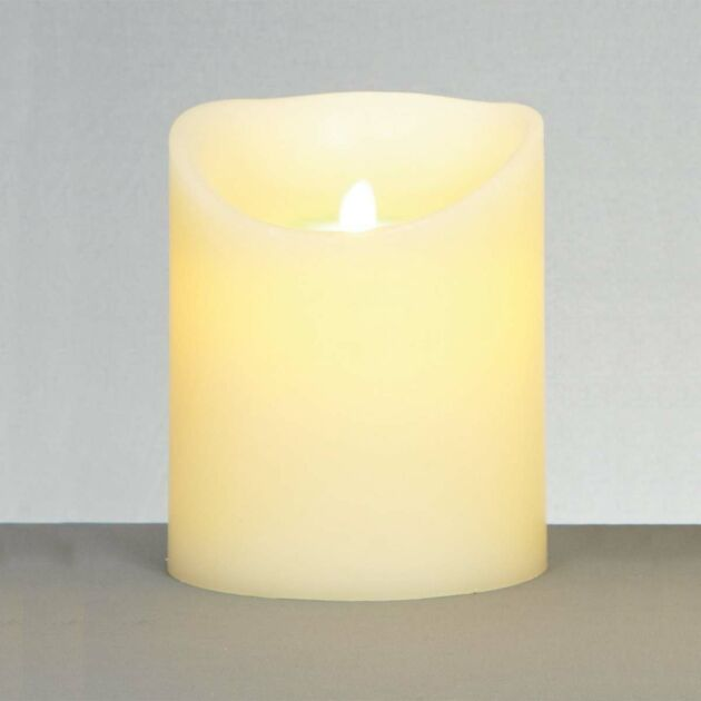 18cm Cream Battery Flickering Dancing Flame LED Candle